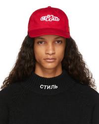 Heron Preston Red Ctnmb Sport Hat