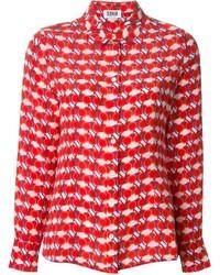 Sonia rykiel sonia by cherry print blouse medium 141252