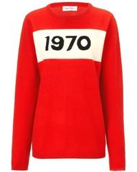 Freud Bella Red Wool 1970 Jumper