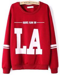 La Print Loose Sweatshirt