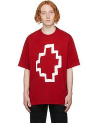 Marcelo Burlon County of Milan Red Cross Print T Shirt