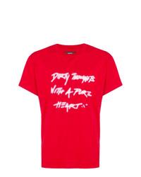 Amiri Slogan Print T Shirt