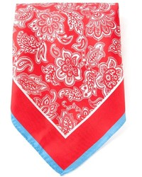 Red and White Print Scarf