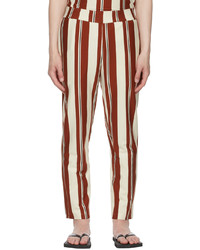 Opening Ceremony Off White Brown Jersey Striped Lounge Pants