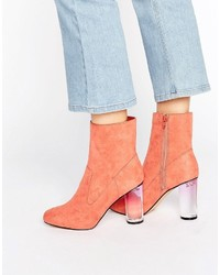 Missguided Clear Block Heel Ankle Boots