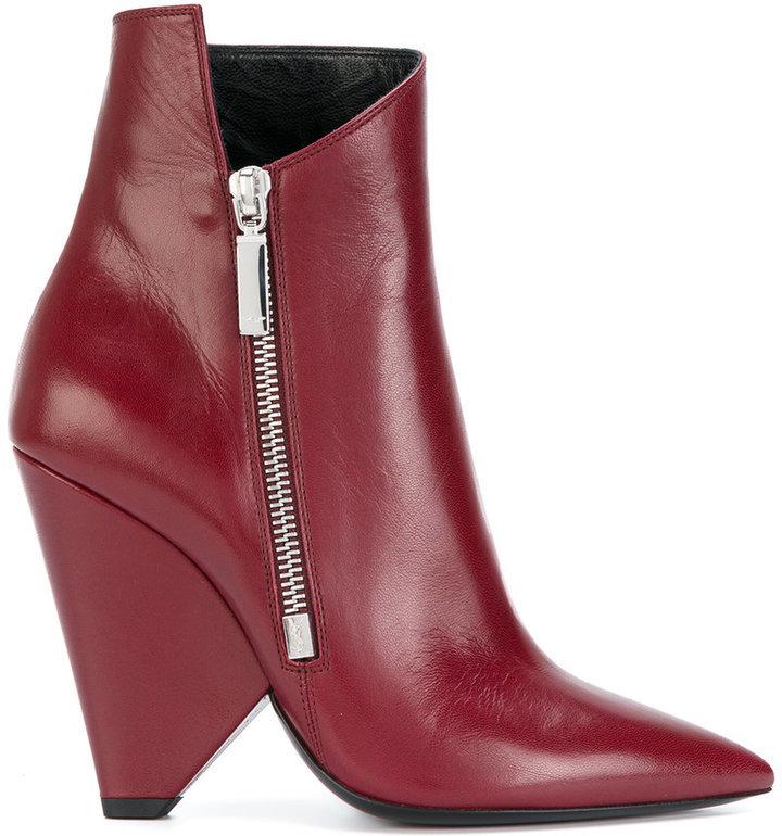 e9ab4aff082 $895, Saint Laurent Niki 105 Ankle Boots