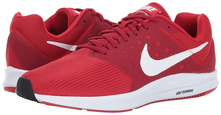 45276a6b8e18 ... Red Athletic Shoes Nike Downshifter 7 Running Shoes ...