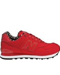 New Balance Wl574 Sp Red Running Shoes