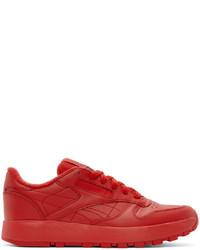 Maison Margiela Red Reebok Edition Classic I Sneakers