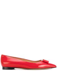 Salvatore Ferragamo Ornat Bow Ballerina Shoes