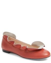 Fendi Ruffle Ballerina Flat