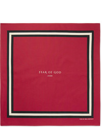 Fear Of God Printed Cotton And Silk Blend Bandana