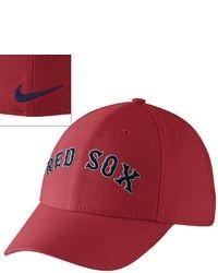 3562e96fc0d Nike Boston Red Sox Dri Fit Swoosh Flex Baseball Cap Adult