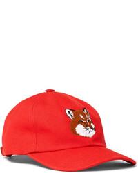 MAISON KITSUNÉ Maison Kitsun Embroidered Cotton Blend Twill Baseball Cap