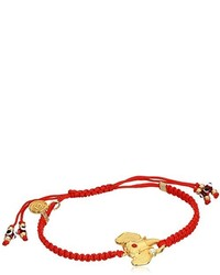 Blee Inara Red Macram Adjustable Elephant Bracelet