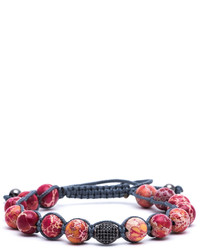 Jared Lang Lux Beaded Cord Bracelet Red
