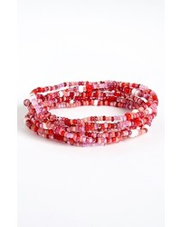 Me to We Artisans Rafiki Health Beaded Bracelet Pink One Size