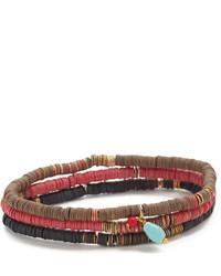Chan Luu Red Mix Beaded Bracelets