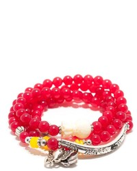Ottoman Imports Stretch Wrap Red Bracelet