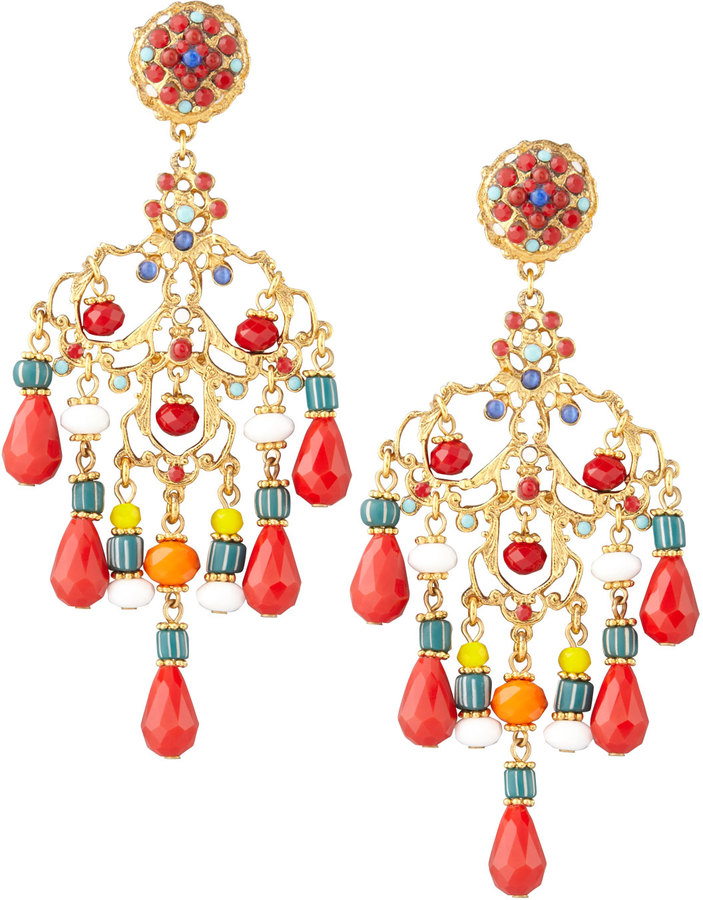 Jose maria barrera beaded chandelier clip earrings redmulticolor jose maria barrera beaded chandelier clip earrings redmulticolor aloadofball Image collections