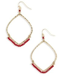 Canvas beaded hoop earrings medium 6710974