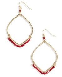 Canvas jewelry beaded hoop earrings medium 6710974