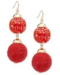 Saks Fifth Avenue Double Drop Ball Earrings