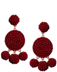 Gemma Collection Beaded Garnet Earrings