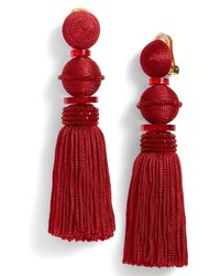 Long tassel drop clip earrings medium 6711007