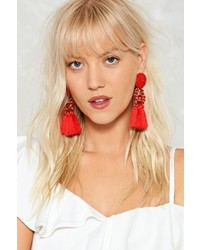 Nasty Gal Nastygal Shake It Off Tassel Earrings