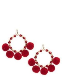 Saks Fifth Avenue Pom Pom Hoop Earrings