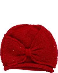 San Diego Hat Company Bead Bow Beanie Knh3236 Red Beanies