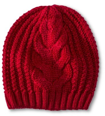 ... Red Beanies Merona Cable Knit Beanie Hat ... 2b0b7e7bf0d