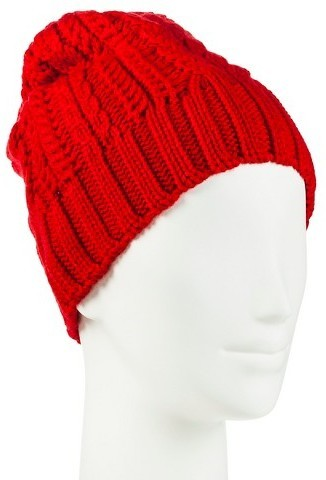 df2670158392d ... Red Beanies Merona Cable Knit Beanie Winter Hat Tm ...