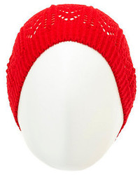 Charlotte Russe Pointelle Knit Beanie
