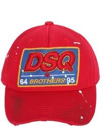 Dsquared2 dsq patch cotton canvas baseball hat medium 957908