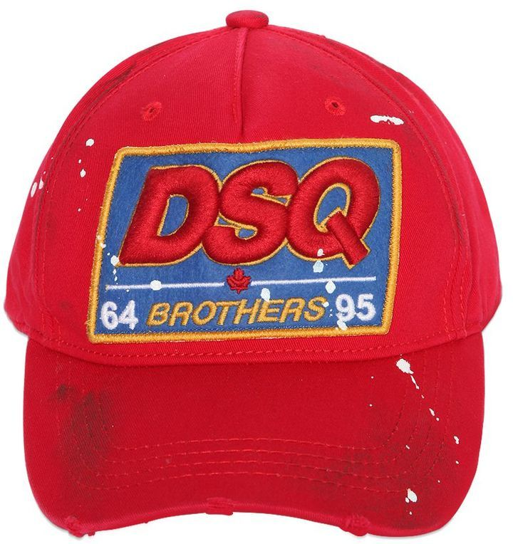 ... DSQUARED2 Dsq Patch Cotton Canvas Baseball Hat ... e03ba75e84c