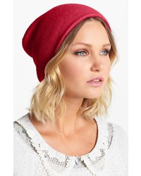 Echo Milk Made Slouchy Beanie Lacquer Red One Size