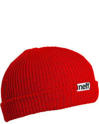 Neff Fold Beanie Red One Size
