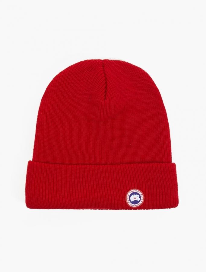 ae86c6eef28 ... Red Beanies Canada Goose Merino Wool Watch Cap ...