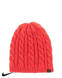 Nike Skateboarding Cable Knit Beanie Challenge Red