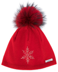 Norton Co. Norton Racoon Fur Pom Pom Hat