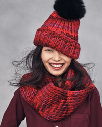 d56f612dd02 ... Eugenia Kim Rain Beanie With Fox Fur Pom Pom Red