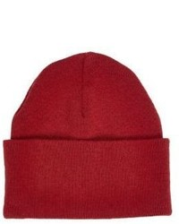River Island Red Chunky Knit Beanie