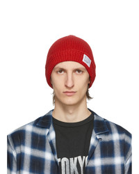 VISVIM Red Knit Beanie