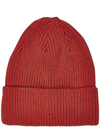 River Island Red Knitted Beanie