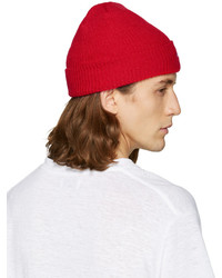 Noah Red Solid Core Beanie