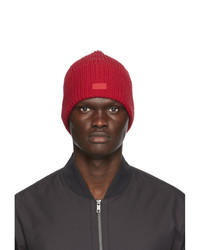 Z Zegna Red Wool Beanie