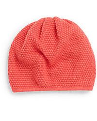 Saks Fifth Avenue BLACK Popcorn Stitch Knit Beanie