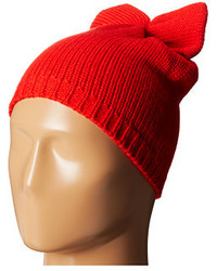Betsey Johnson Solid Bow Beanie Hat